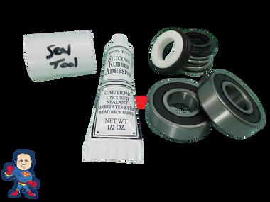 Jacuzzi (4) Mount Piranha Thera-Max Thera-Flo Pump Seal (2) Bearing Parts Kit with Silicon