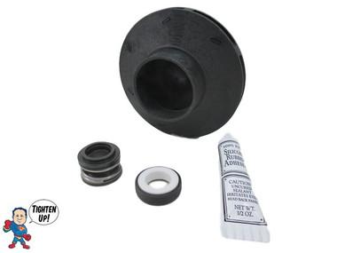 """Watkins Hot Spring Impeller & Seal Kit XP2 2.5 HP 2 1/8"""" Eye Vendor # 4081, Wavemaster ,9000, 9200"""