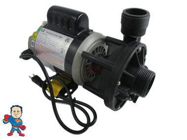 """Circulation Pump, LX 48WTC, 1/8HP, 115 or 230V, 1.6 or 0.8A, 1-1/2""""MBT, Side Discharge"""