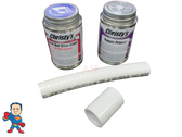 "Spin To Win, Glue Kit, 1/2"" Flex Pipe, 3/4"" OD,  6"" length for Manifolds and Waterfall or Air Control Valves"