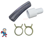 """Renu Extra Extension Kit  3/4"""" Slip/ 1"""" Street x 3/4"""" Barb with 4"""" Tubing (2) Clamps"""