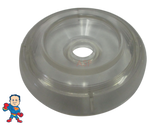 "Spa Hot Tub Diverter Cap 3 3/4"" Wide Clear Smooth Non Buttress"
