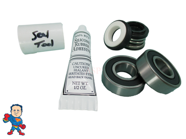Hotspring, Watkins, Vendor #4081, (2) Bearing, Shaft Seal Kit with Silicon & Tool, Wavemaster, 4000, 6000, 7000, 8000, 8200, 9000, 9200