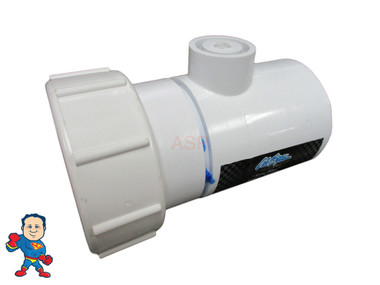 """Cal Spa Safety Suction, Tee Fitting, 2"""" Pump Union X 2"""" Slip Fitting with a 1/8"""" MPT Tap"""