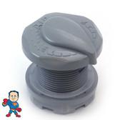 """Control, 1-3/4"""" hole size, 2-1/2""""face diameter, Designer Cap, Gray, 1"""" Slip"""