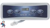 4 Button, Topside, E4, Balboa, VL401, LCD, Lite Duplex Digital, (2) Pumps, Temp, Light