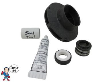 """Impeller & Seal Kit, Watkins, 37334, 71894, Wavemaster 4000, Vendor Code 4081, 1.0 HP 2 1/8"""" Eye with 1/4"""" Vane Width 3 7/8"""" OD"""