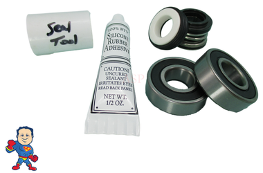 Watkins, Wavemaster 5000, Vendor Code 4081, Shaft Seal & (2) Bearing Kit, Silicon & Tool Buna Note: Watkins used 4 different Brands of Wet Ends under the Wavemaster name.. Be sure that yours says 4081, 33980, 34677 or 36745 on the label..