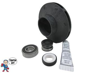 """Watkins Hot Spring Impeller, (1) Bearing & Seal Kit XP2 2.5 HP 2 1/8"""" Eye Vendor # 4081, Wavemaster ,9000, 9200"""
