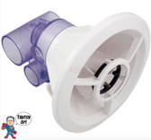 """NLA Jet Complete, Hydro Air, Therassage, 6"""" Hole Size, Roto, Smooth, White, Air 1"""" Slip X Water 1-1/2"""" Slip"""