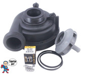 """Wetend, Sundance, Jacuzzi, Piranha, Theramax, Theraflo, 48 Frame, 2.0HP, 2"""" MBT, Side Discharge, 8 Mount This wet end will work in all positions including the 45 degree position.."""