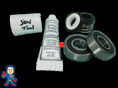 Waterway Viper Shaft Seal Kit, (2) Bearing, Silicon & Install Tool
