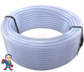 """Air or Water Tubing, Vinyl, 1/4""""id x 3/8""""od, 100ft Roll"""