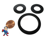 "(1) Complete Set of (3) Gaskets (1) 2"" Lip Gasket (2) 1"" Thread Split Nut Gasket only for Air Union Saluspa Lay-Z-Spa™ Airjet™ ""A"" & ""B/C"" Couplings"