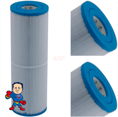 "Filter Cartridge, 45sqft, 2-1/8"" Hole Top, 2-1/8"" Hole Bottom, 4-15/16"" Wide, 14-7/8"" Tall"