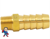 "Barb Adapter, 1/8"" Barb x  3/8""mpt, Brass"