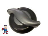 """Spa Hot Tub Diverter Silver S Handle 4 5/16"""" Long  2 1/8"""" Wide and Cap 3 11/16"""" Wide Graphite"""