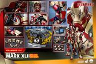 Iron Man Mark XLII 1/4 Scale Figure (Iron Man 3) <Deluxe Version>  [Hot Toys]  **PRE-ORDER**