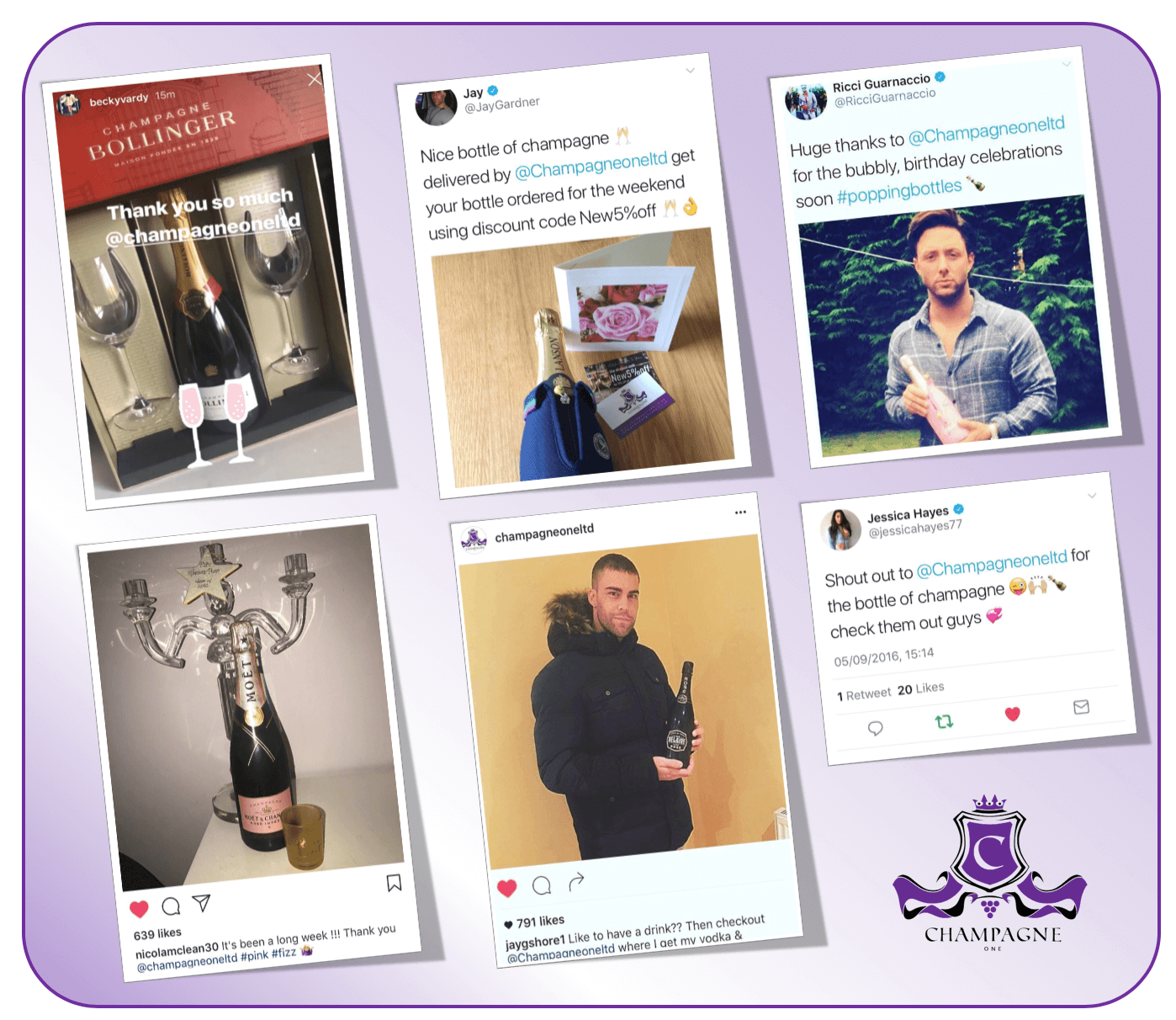 Celeb Reviews for Champagne One