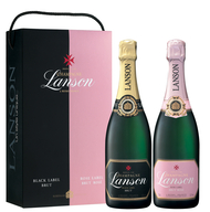 Lanson Black Label NV & Rose Label NV Twinpack (20cl)
