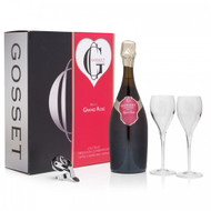Gosset Grand Rose Brut NV 75cl Glass Pack