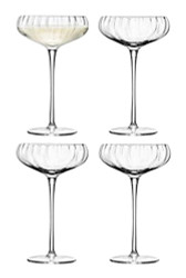 LSA Aurelia Champagne Saucers 300ml (Set of 4)