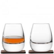LSA Whisky Islay Tumbler 250ml and Walnut Coaster (Set of 2)