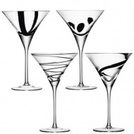 LSA Jazz Cocktail Glass 320ml (Set of 4)