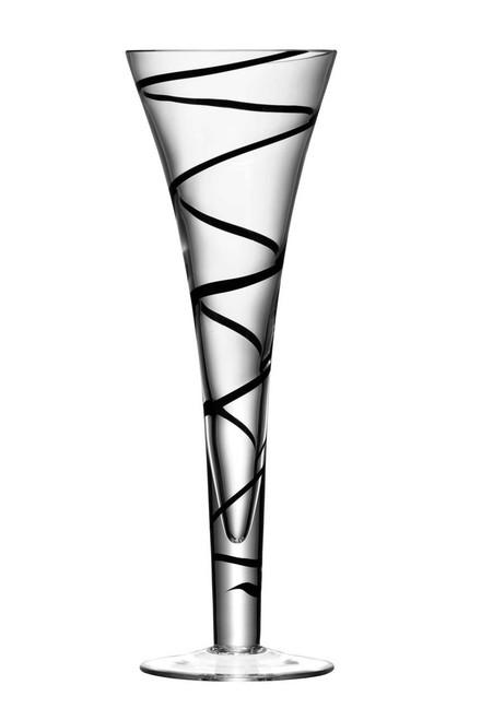 LSA Jazz Black Single Champagne Flute (250ml)