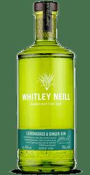 Whitley Neill Lemongrass and Ginger Gin (70cl)