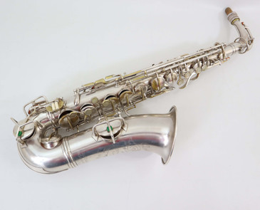 CONN NEW WONDER II ALTO SAX c.1925 SILVER PLATE - REFURBISHED