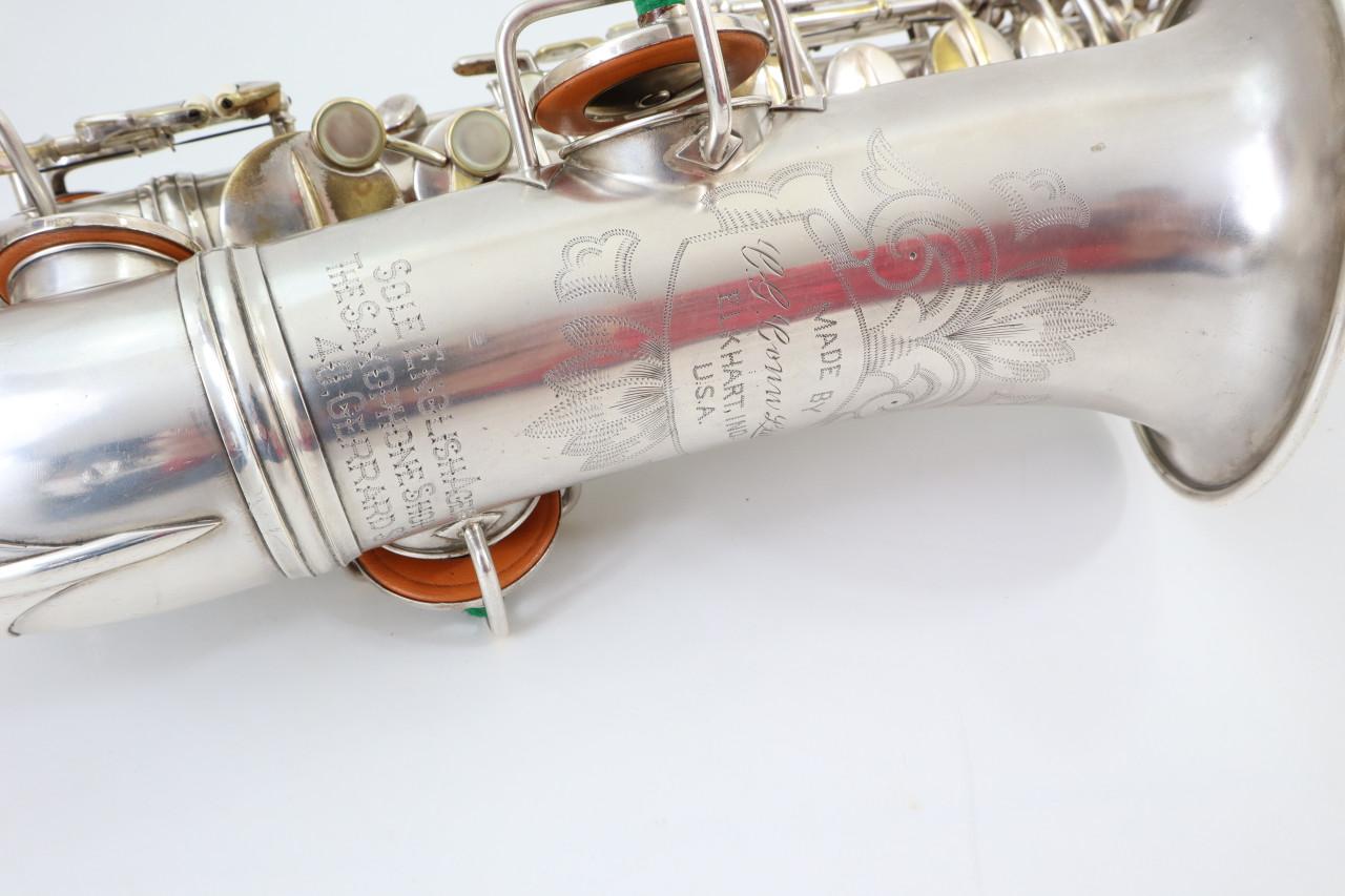 CONN NEW WONDER II ALTO SAX c.1925 SILVER PLATE - REFURBISHED 3