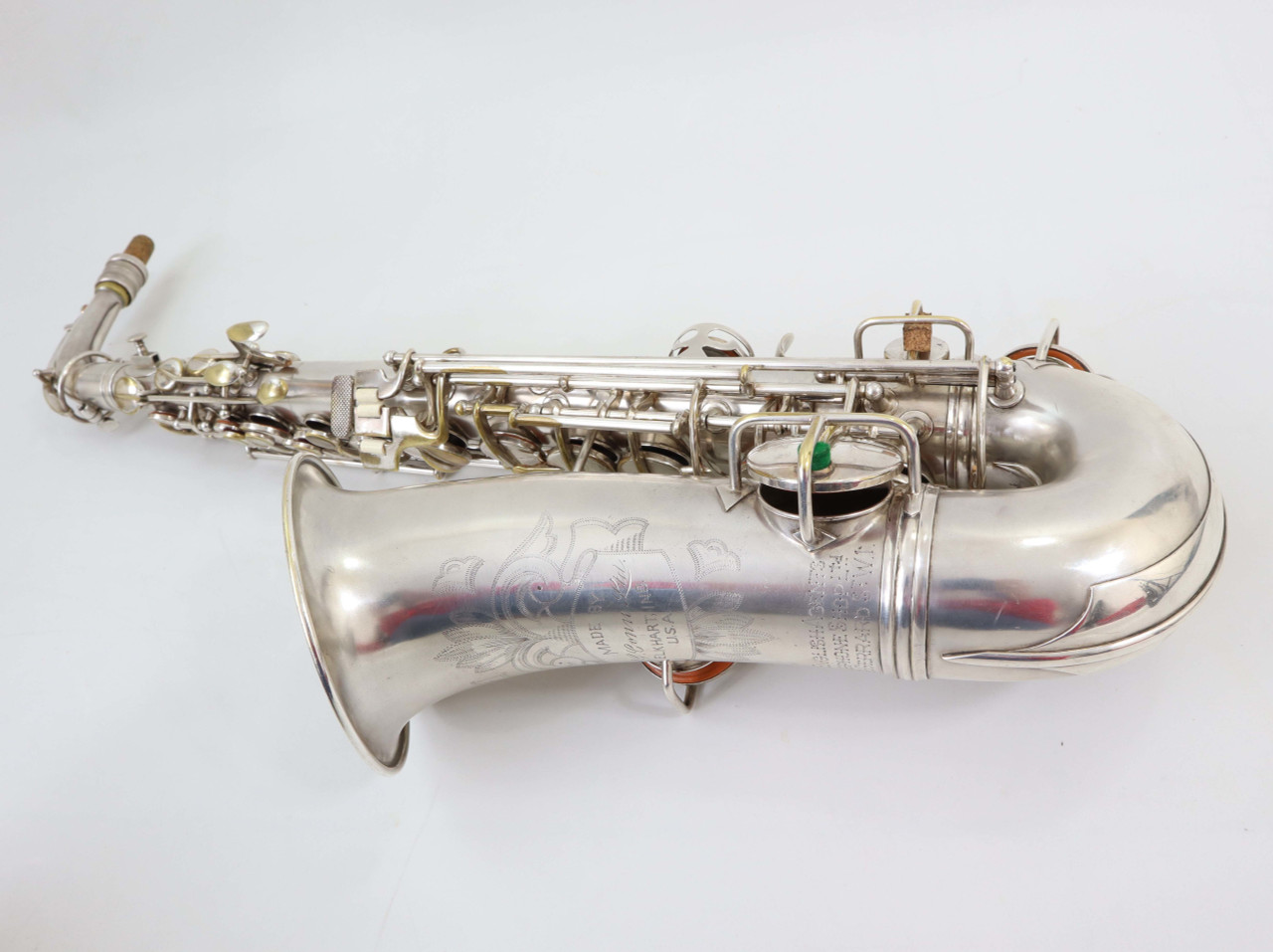 CONN NEW WONDER II ALTO SAX c.1925 SILVER PLATE - REFURBISHED7