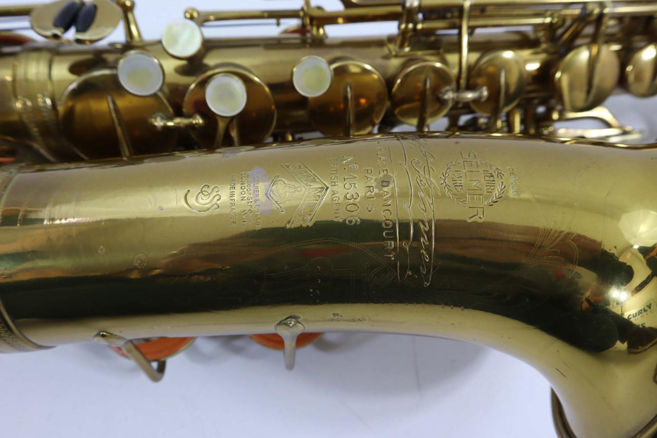 "SELMER ""CIGAR CUTTER"" c.1933 ALTO SAX - REFURBISHED 5"