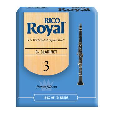 RICO ROYAL B FLAT CLARINET REEDS