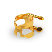 "D'ADDARIO ""H"" LIGATURE - GOLD PLATED FOR ALTO SAXOPHONE"