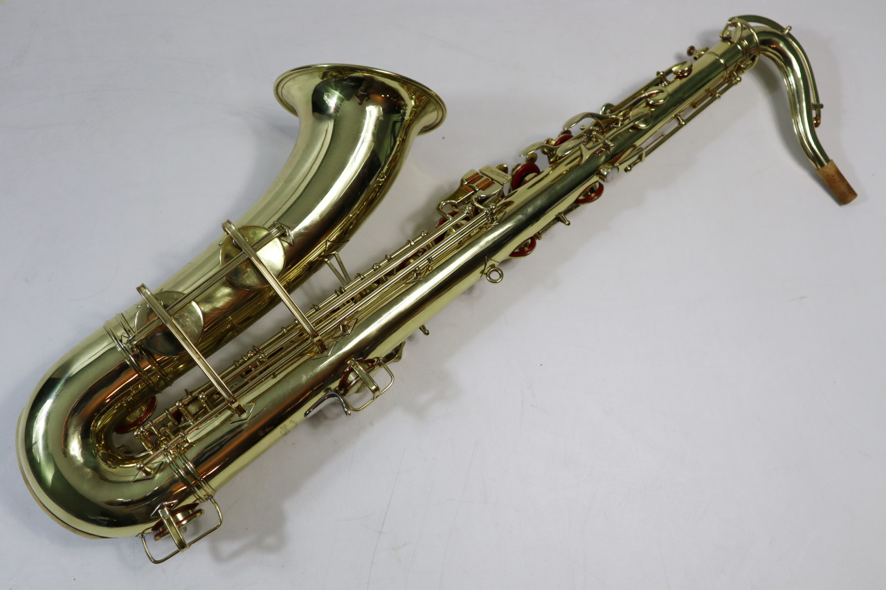 "BUESCHER ARISTOCRAT ""BIG B"" TENOR SAX c. 1945 - REFURBISHED 2"