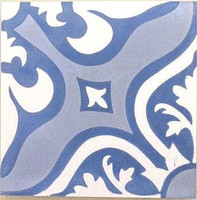 Lancelot Blue 8x8 Cement Tile