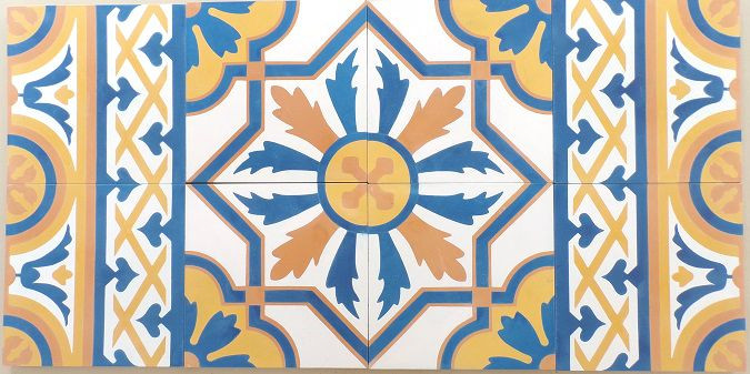 Mas Equis Conga Regio Border tile goes well with the Conga Regio pattern.