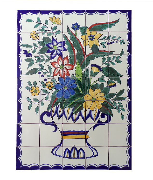 Maceta mural, 35 pieces of 4x4 tile