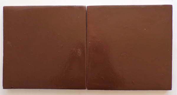 8x8 regular square Saltillo stained special chocolate