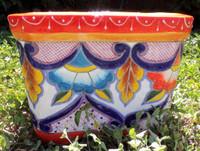 Talavera square planter