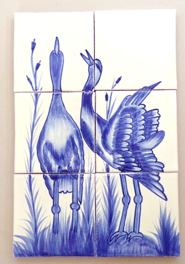 Garzas en Azul 6 piece 4x4