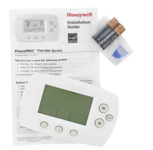 honeywell focuspro 6000 thermostat manual