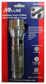 Aluminum Torch LED UltraViolet Light MA-UVFL15-1