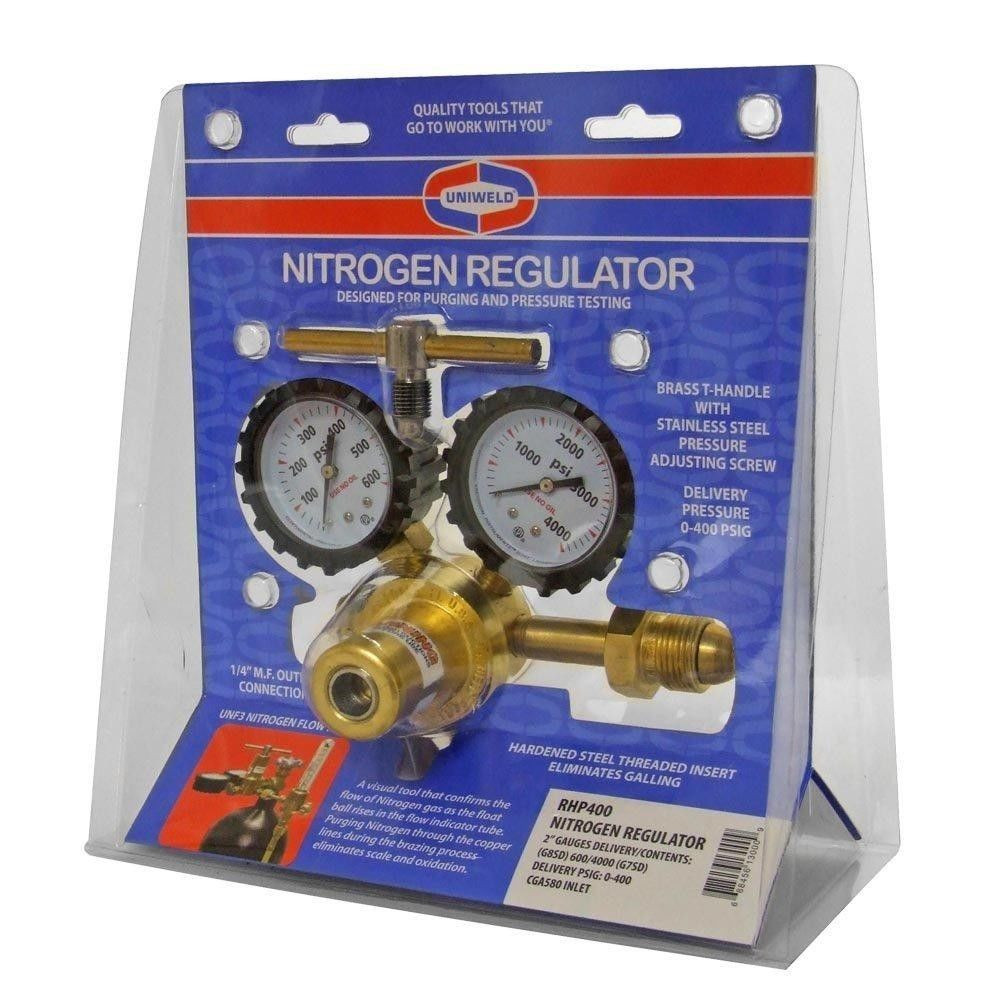 Nitrogen Regulator Gauge Pressure Equipment Copper Inlet Connection Gauge HVAC
