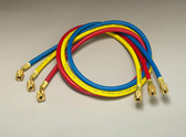 "Yellow Jacket 21985 PLUS II 1/4"" Charging Hoses Set 60"""
