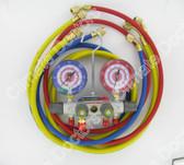 Yellow Jacket 49965 Titan 4 Valve Manifold Set w/ Hoses
