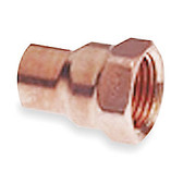 "(10) 1 1/8"" x 1"" OD Copper x Female Adapter CxF"