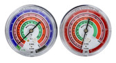 """Mastercool 58501 3 1/8"""" Gauges R410A R22 R404A Refrigerant Scale Lw"""